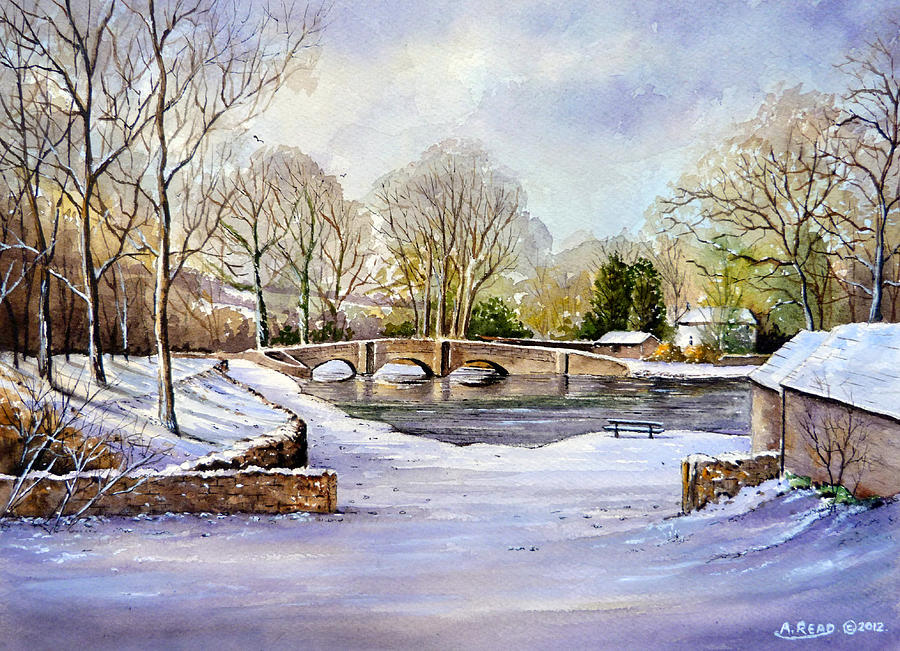 Water Color Painting - Winter In Ashford by Andrew Read