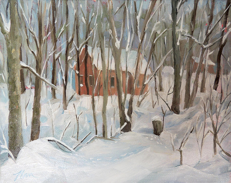 Winter in Campton New Hampshire by Nancy Griswold