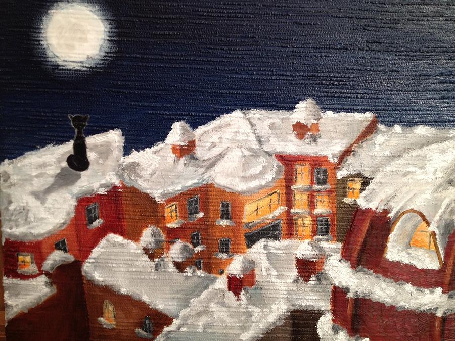 Winter Painting - Winter In St Petersburg by Margarita Gokun