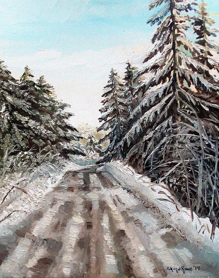 Tree Painting - Winter In The Boons by Shana Rowe Jackson