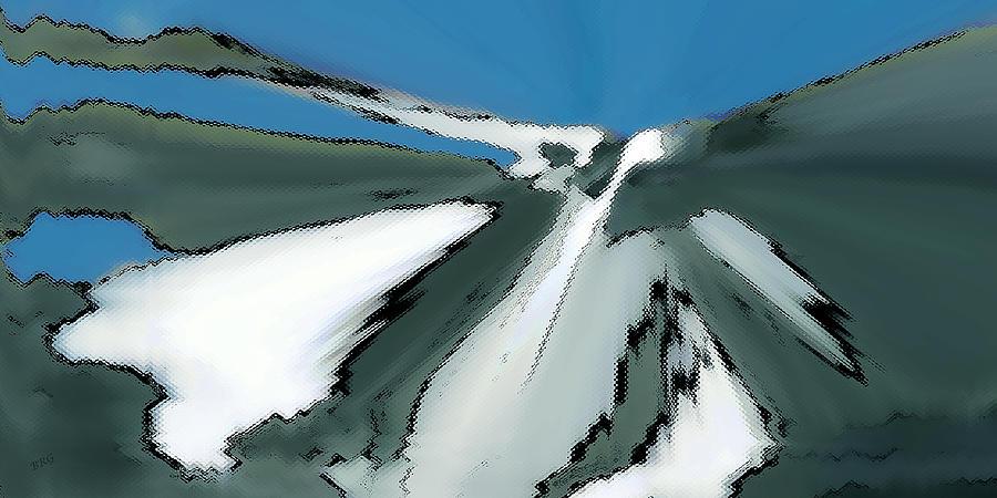 Winter Landscape Digital Art - Winter In The Mountains by Ben and Raisa Gertsberg