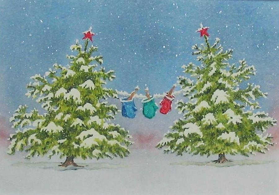 Fun Painting - Winter Is Fun by Mary Ellen Mueller Legault