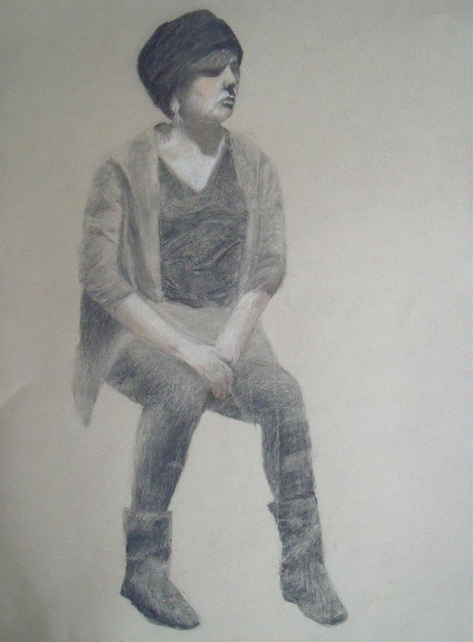 Figure Drawing Drawing - Winter by Jessica Sanders