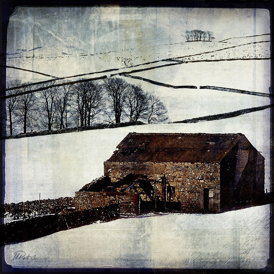 Landscape Digital Art - Winter Landscape 1 by Mark Preston