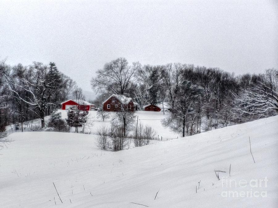 Alone Photograph - Winter Landscape 5 by Dan Stone