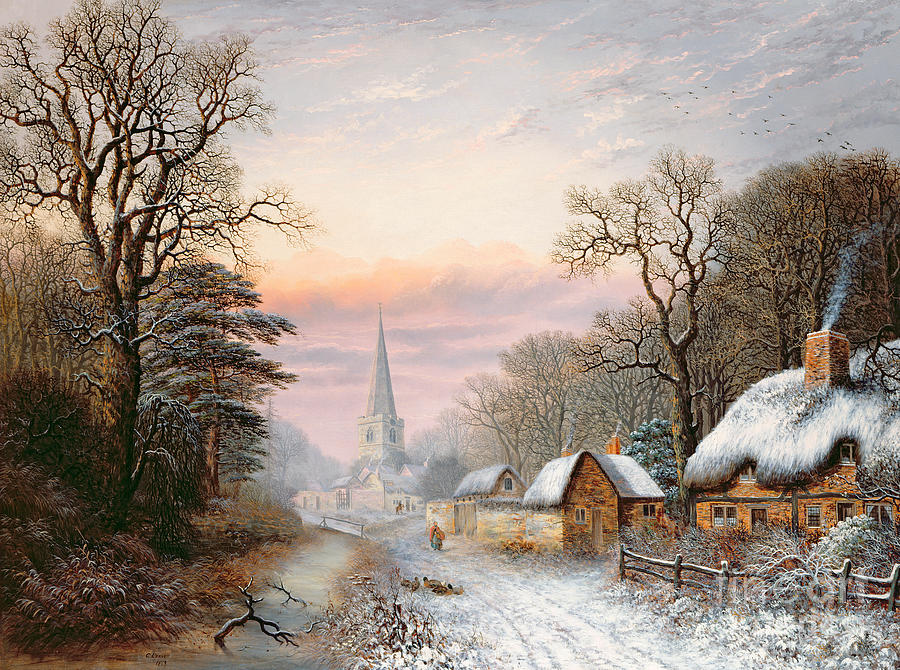 Rural Painting - Winter Landscape by Charles Leaver