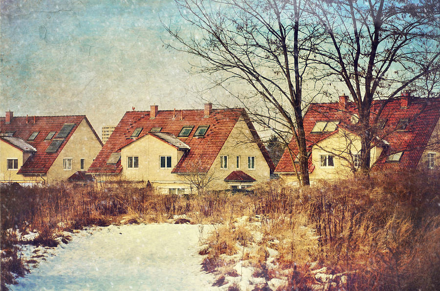 Winter Photograph - Winter Landscape With Houses by Gynt