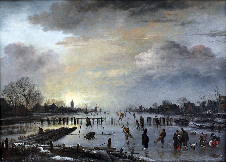 Winter Landscape with Skaters by Gianfranco Weiss