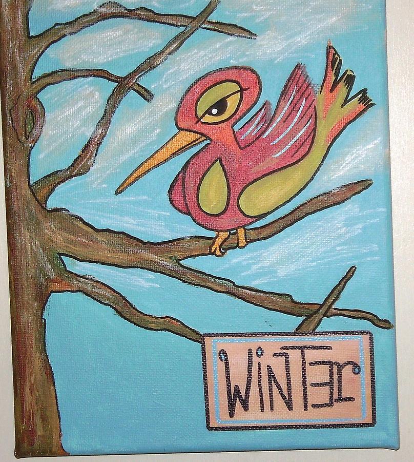 Winter Painting by Lenny J  Cota Jr