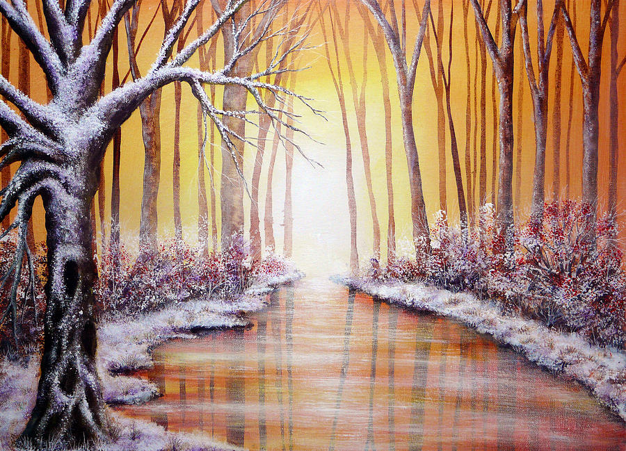 Christmas Painting - Winter Light by Ann Marie Bone