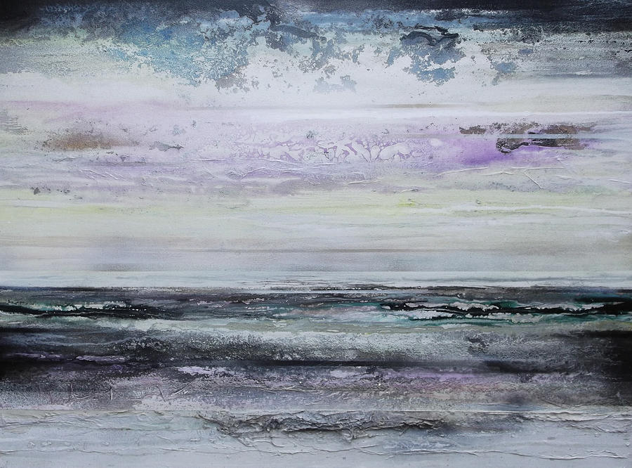 Winter Mixed Media - Winter Light Hauxley Haven by Mike   Bell