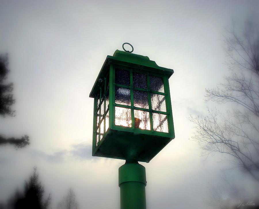 Lightpost Photograph - Winter Light by J Allen