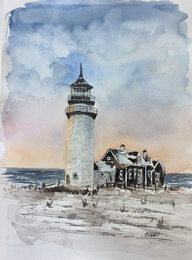 Massachusetts Painting - Winter Light by Stephanie Sodel