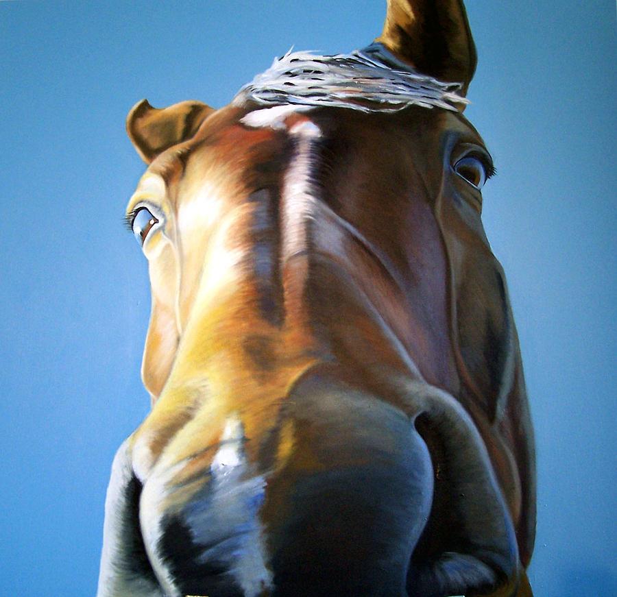 Horse Painting - Winter Light by Steve Messenger