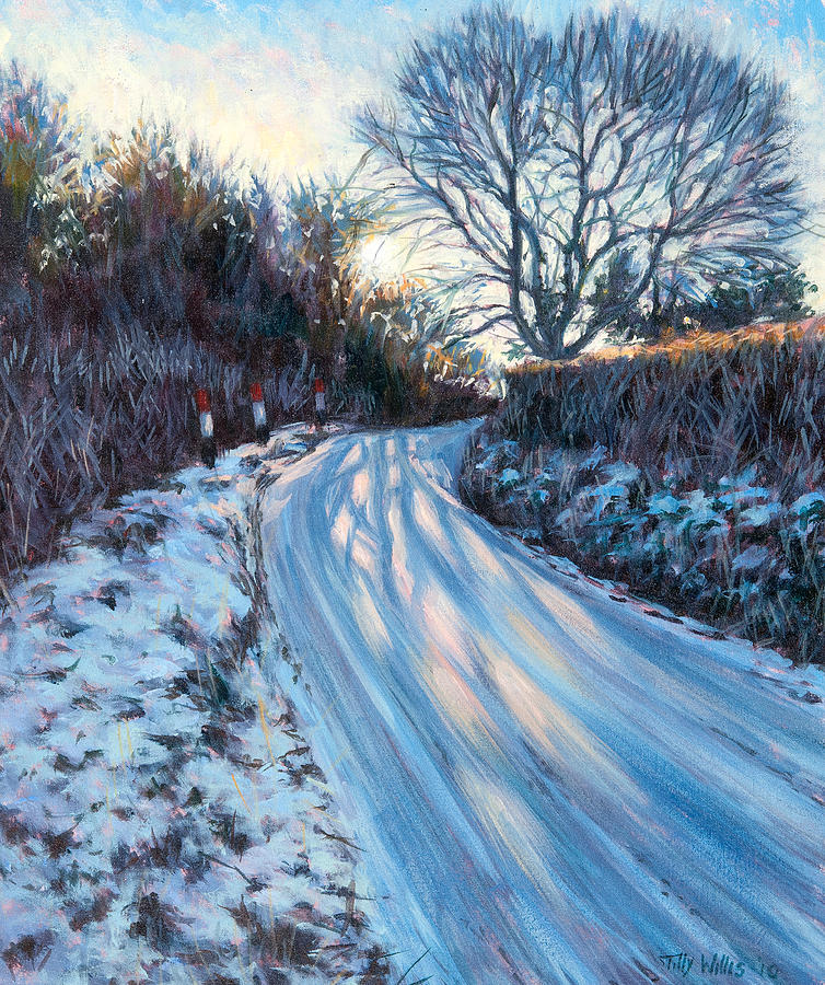 Winter Painting - Winter Light by Tilly Willis
