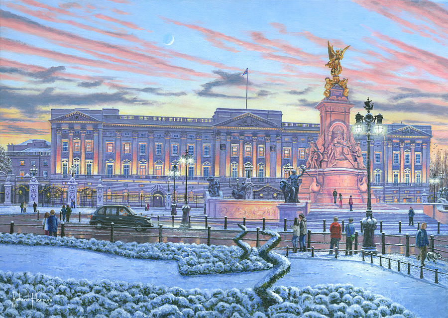 Winter Lights Buckingham Palace Painting