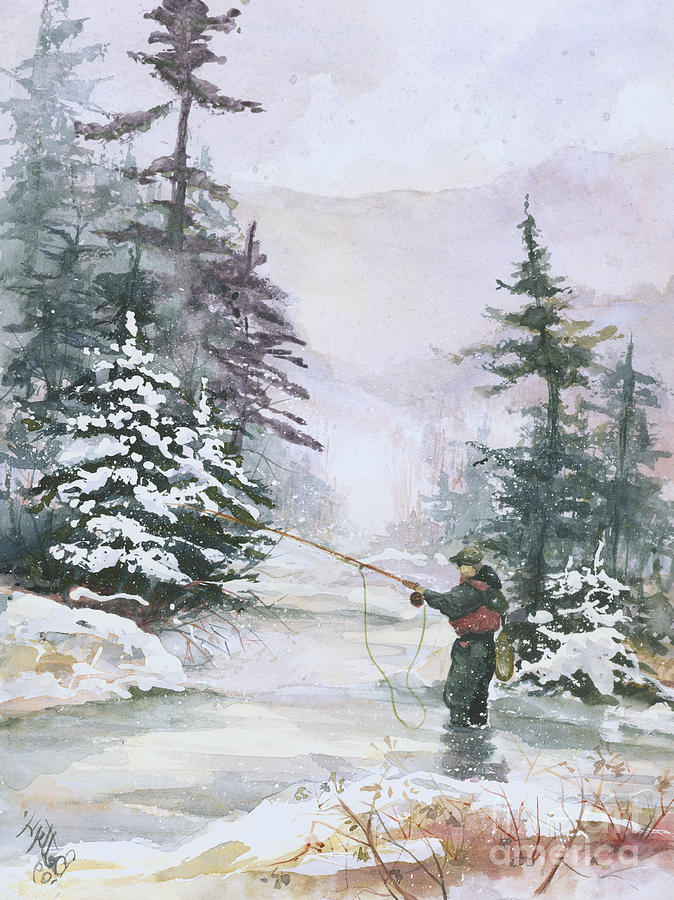 Magic Painting - Winter Magic by Elisabeta Hermann