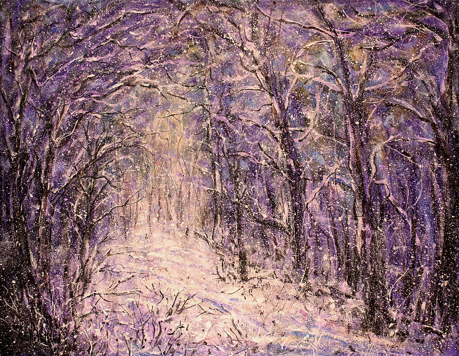 Winter Painting - Winter Magic by Natalie Holland