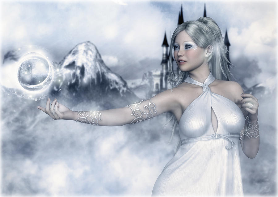 Winter Digital Art - Winter Magic by Rachel Dudley