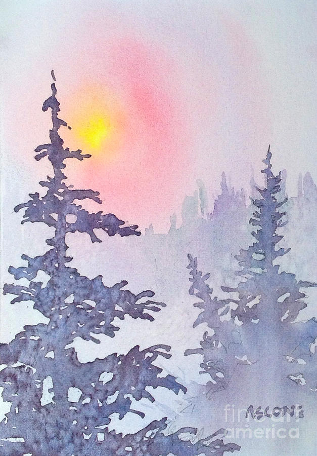 Morning Painting - Winter Mist by Teresa Ascone