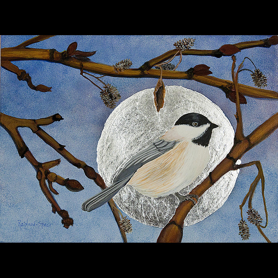 Chickadee Painting - Winter Moon by Amy Reisland-Speer