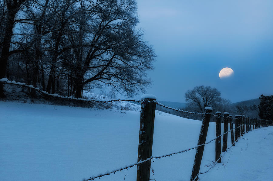 Moon Photograph - Winter Moon by Bill Wakeley