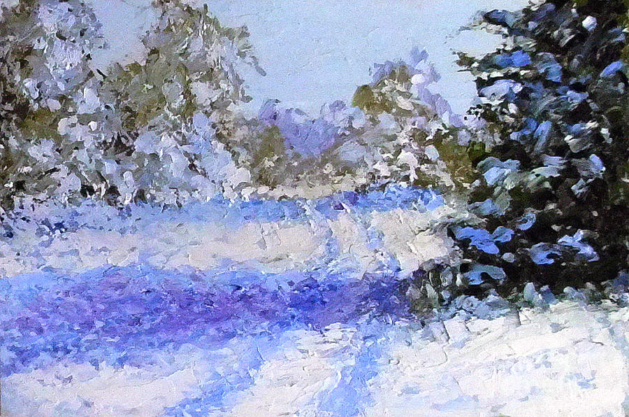 Landscape Painting - Winter Morn by Fred Wilson