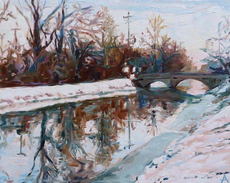 Winter Painting - Winter Morning by Azhir Fine Art