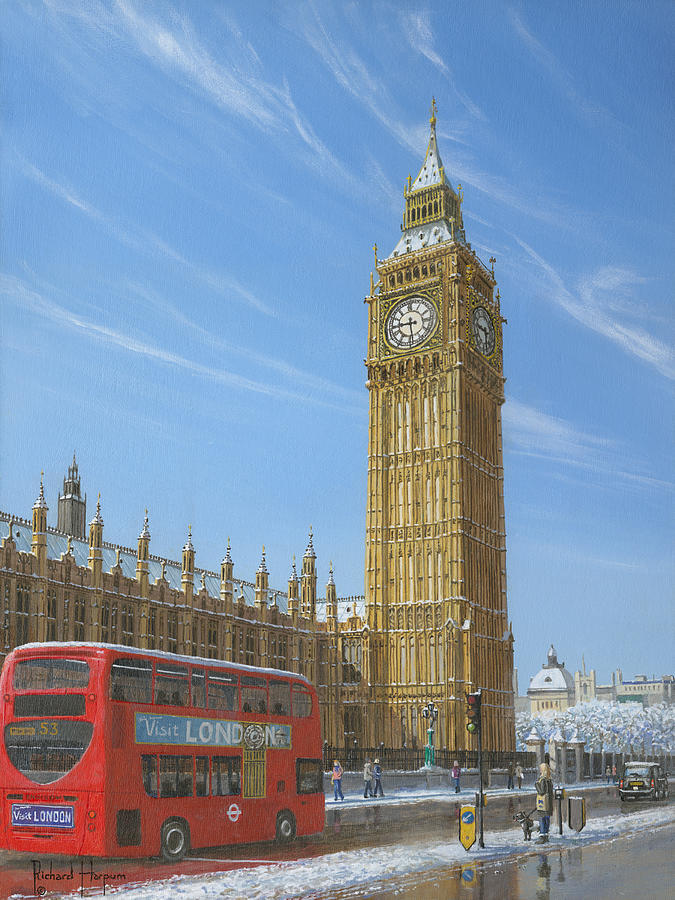 Winter Morning Big Ben Elizabeth Tower London by Richard Harpum
