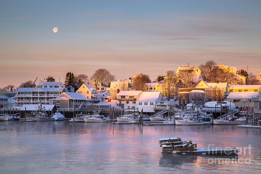 Boothbay Harbor Photograph - Winter Morning in Boothbay Harbor by Benjamin Williamson