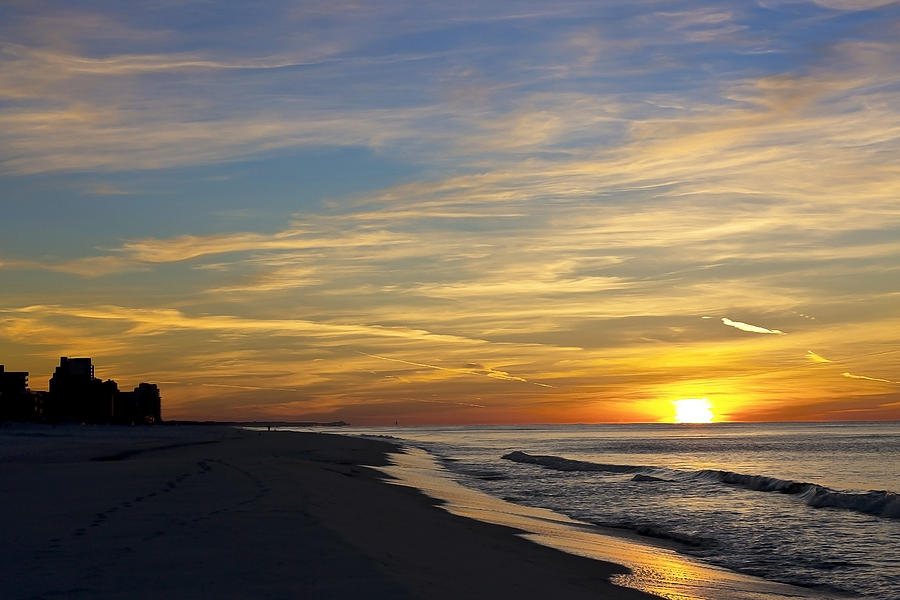 Winter Morning On The Gulf Photograph