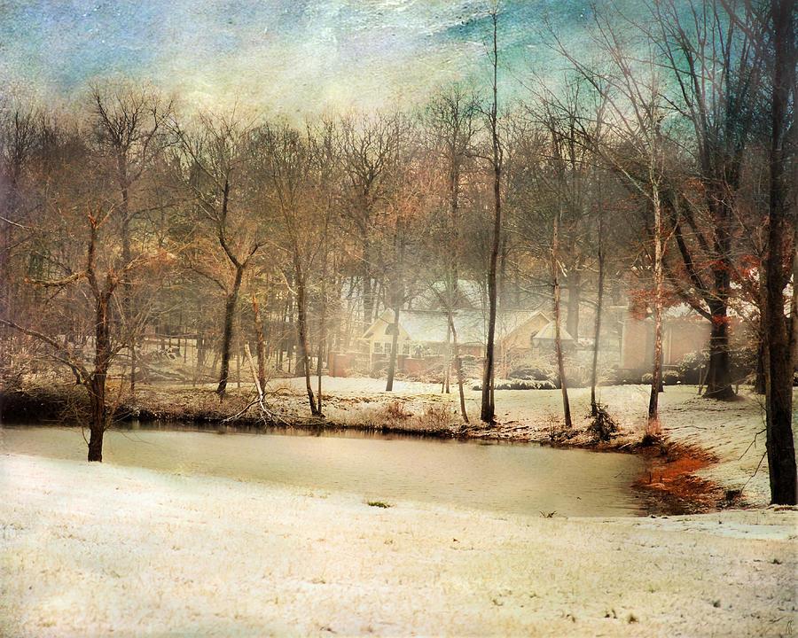 Winter Photograph - Winter Morning Pond by Jai Johnson