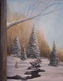 Woods Painting - Winter Morning by Rick Huotari