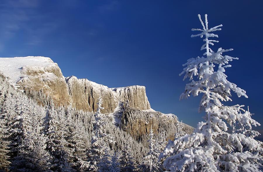 Alpine Photograph - Winter Mountain Landscape by Ioan Panaite