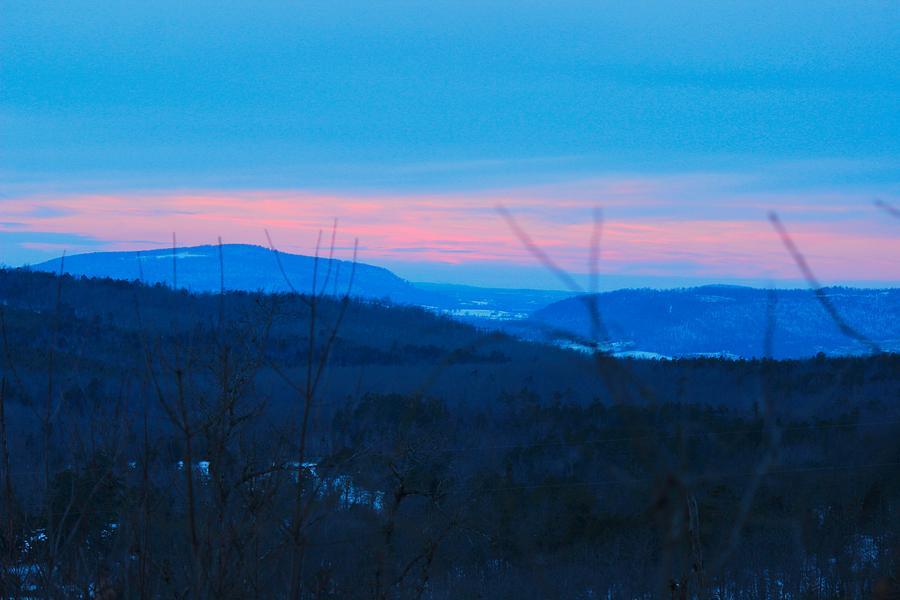 Sunset Photograph - Winter Mountain Sunset by Edward Hamilton