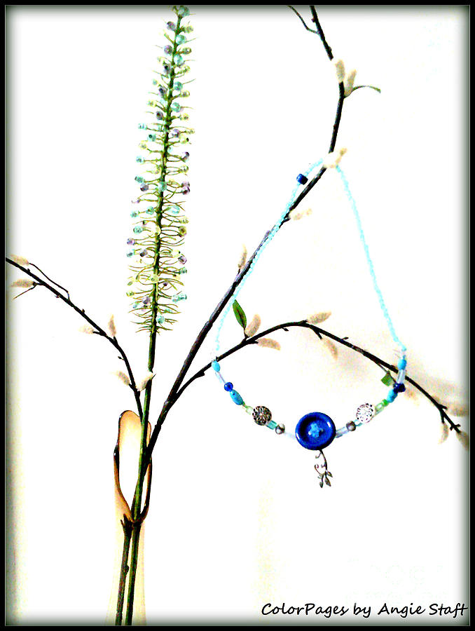 Still Life Photograph - Winter Necklace by Angie Staft