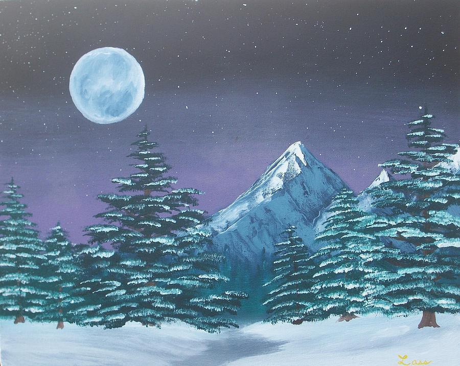 Winter Night Painting by Douglas Lass