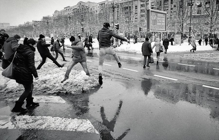 Street Photograph - Winter Olympics by Vlad Eftenie