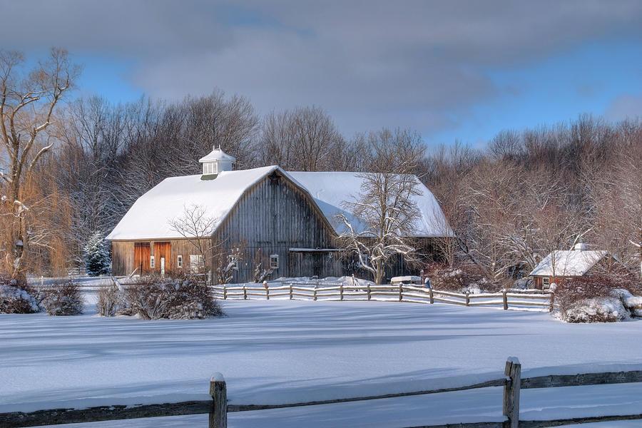 Winter on the farm 14586 photograph by guy whiteley - Winter farm scenes wallpaper ...