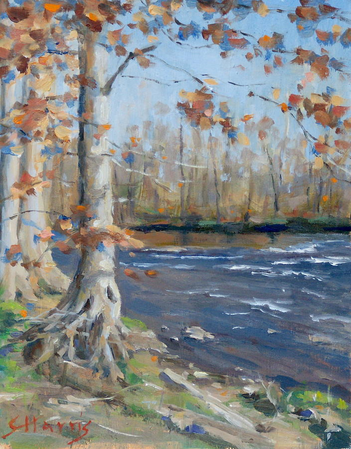 Nashville Painting - Winter On The Little Harpeth by Sandra Harris