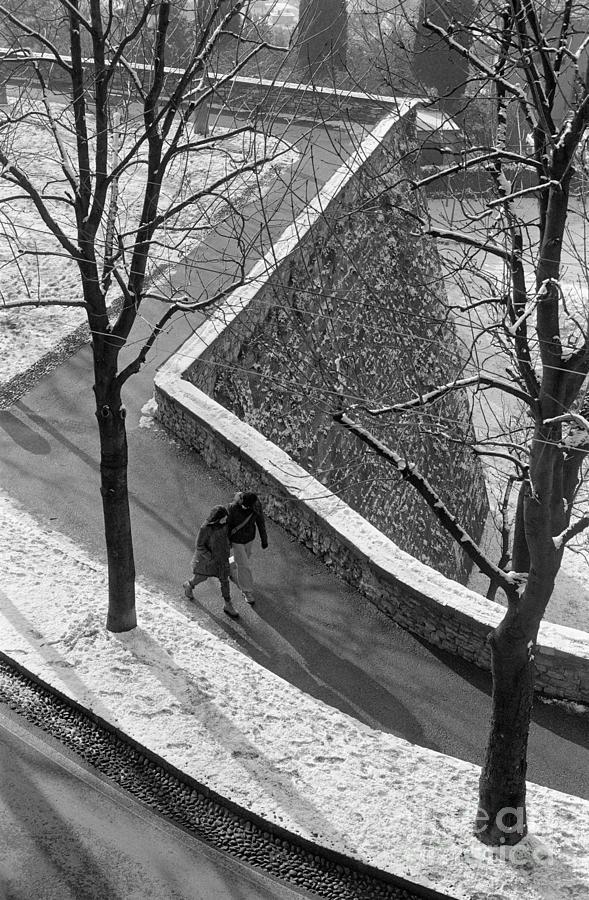 Winter Photograph - Winter On The Walls Of Bergamo by Riccardo Mottola