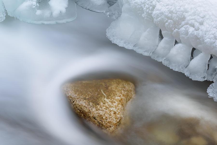 Beautiful Photograph - Winter Orangeville Creek by Dean Pennala