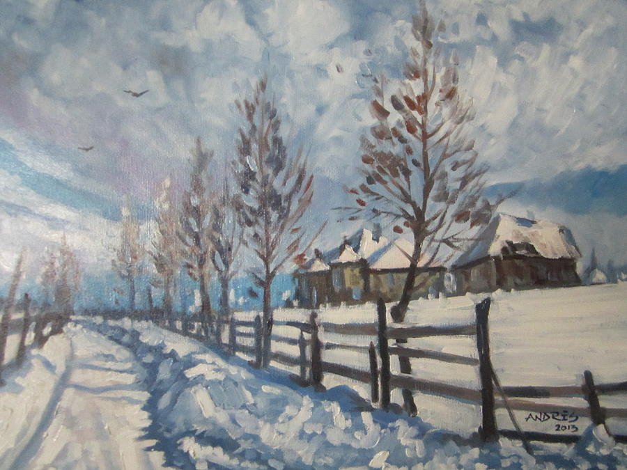 Winter Painting - Winter Path by Andrei Attila Mezei