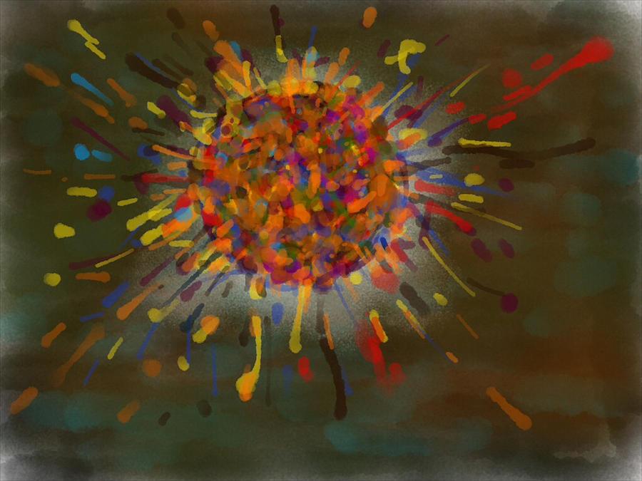 Sun Digital Art - Winter by Paul Petroniu