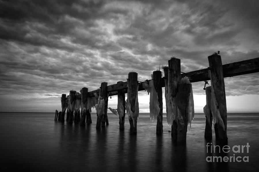 Landscape Photograph - Winter Pier by Matt  Trimble