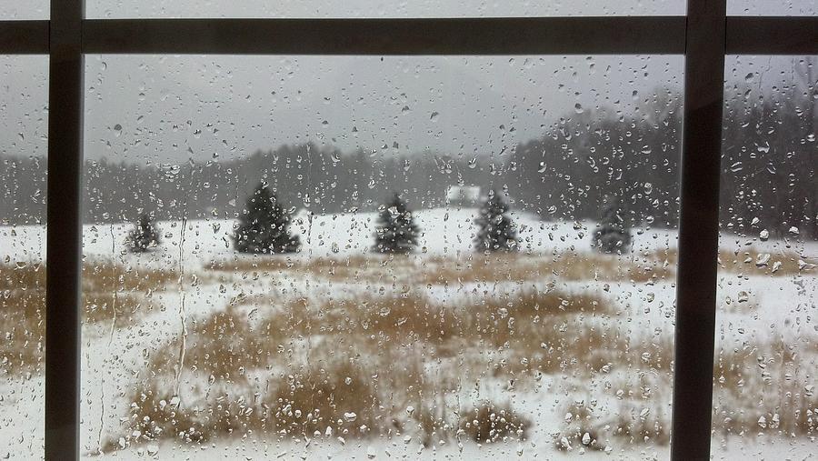 Rain Photograph - Winter Rain  by Lisa Wormell