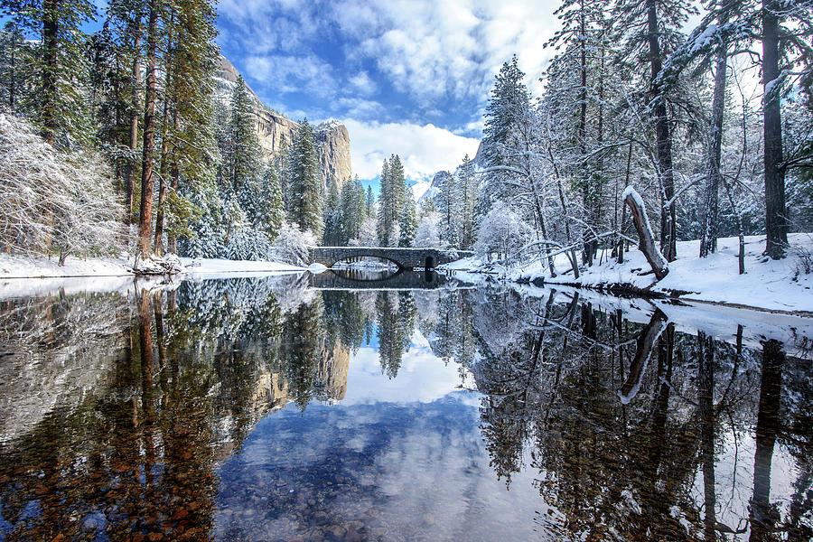 Winter Reflection At Yosemite Photograph by Piriya Photography
