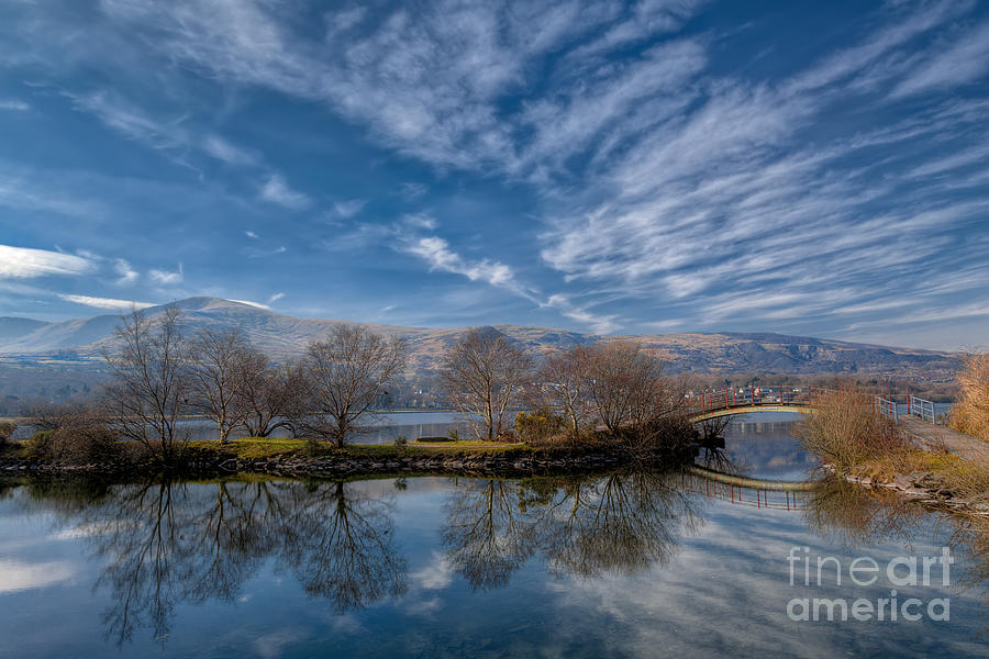 Autumn Photograph - Winter Reflections by Adrian Evans