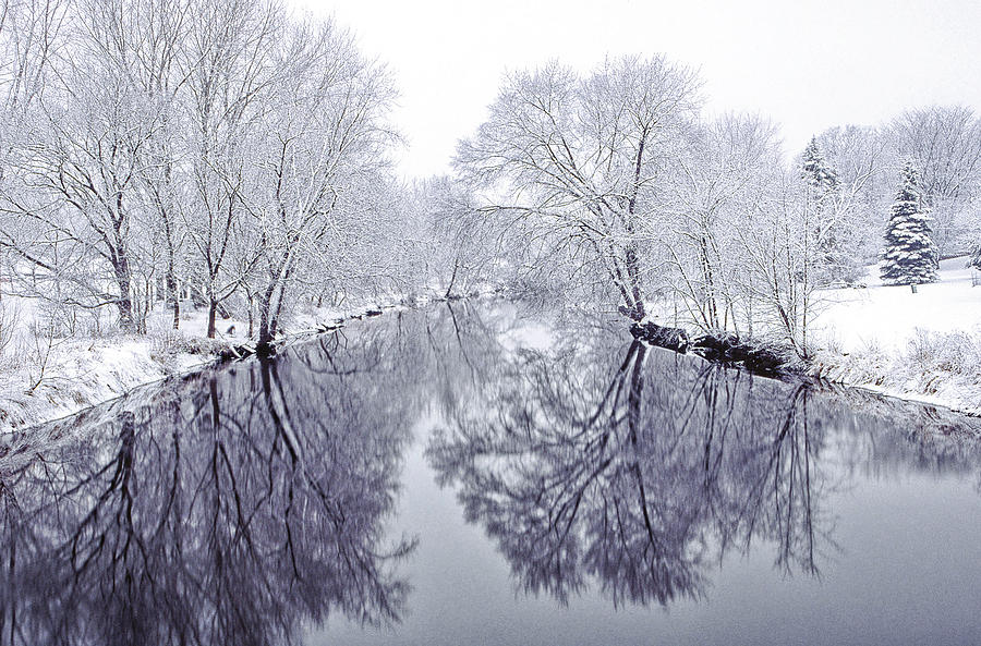 Snow Photograph - Winter Reflections by Andrew Soundarajan