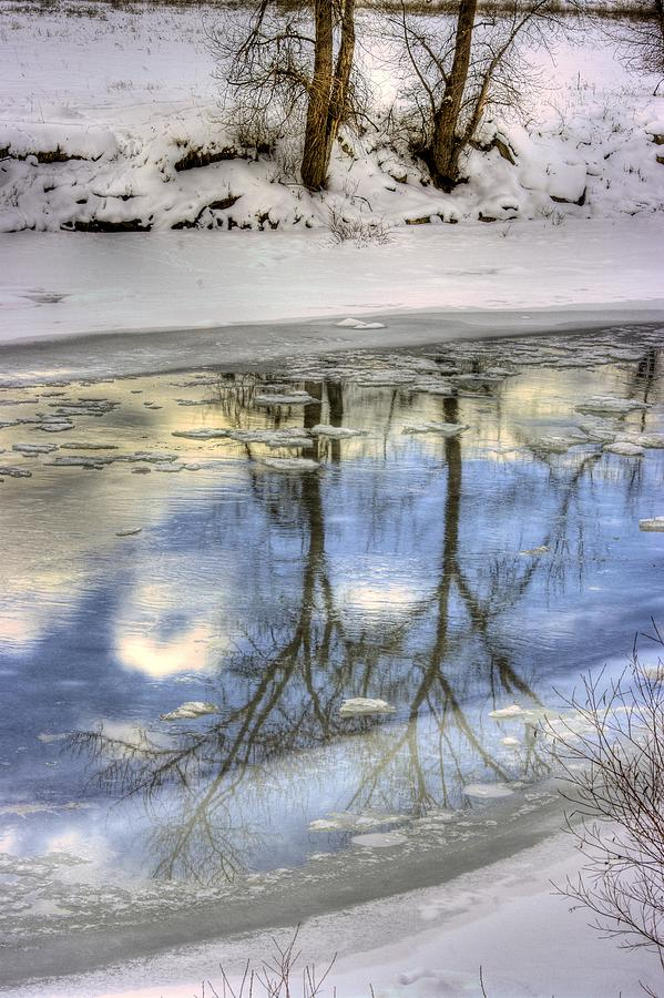 Winter Photograph - Winter Reflections by John  Greaves
